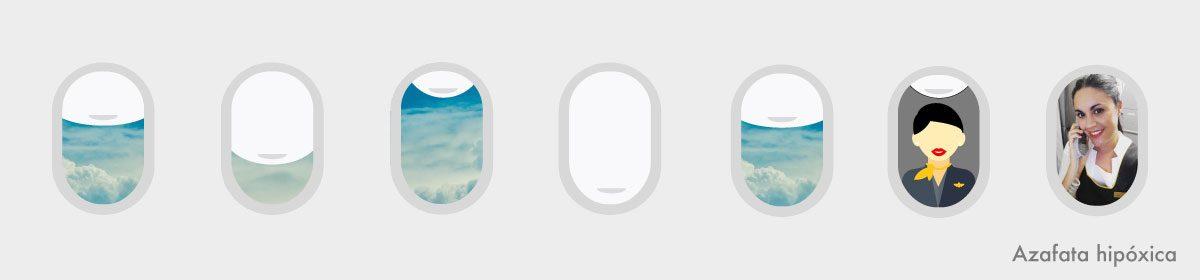 Azafata hipóxica: confesiones de altos vuelos